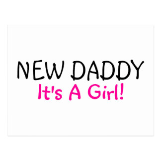 New Daddy Its A Girl Postcard
