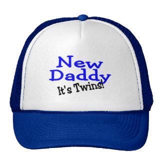 New Daddy Its Twins Trucker Hat