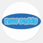 New Daddy Round Sticker