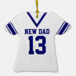 New Daddy Sport Jersey with Photo Christmas Tree Ornaments
