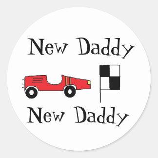 New Daddy Stickers Round Sticker