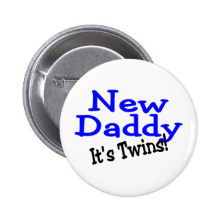 New Daddy Twins Button