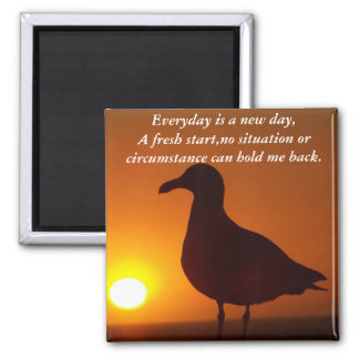 New Day_ 2 Inch Square Magnet