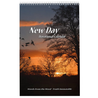 New Day Devotional Calendar Single Page