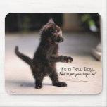 New Day: Funny Kitten Mousepad