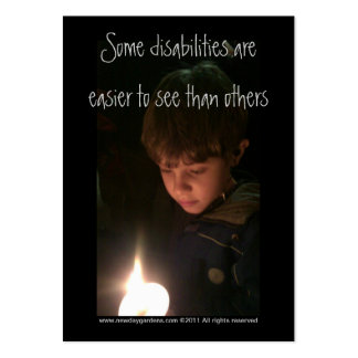 New Day Gardens- Autism Awareness Profile Card Large Business Cards (Pack Of 100)