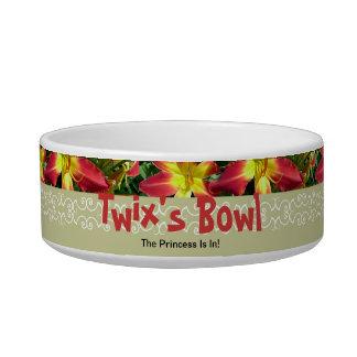 New Day Gardens Cat Dish-Daylily AAA Twix Bowl