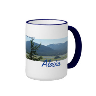 New Day Gardens Mug- Alaska Panorama Juneau Ringer Coffee Mug