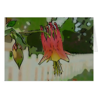 New Day Gardens Notecard Canadian Columbine W