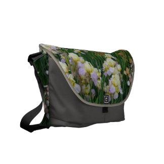 New Day Gardens Saddle Bag- Irises 'Enriched' Messenger Bag