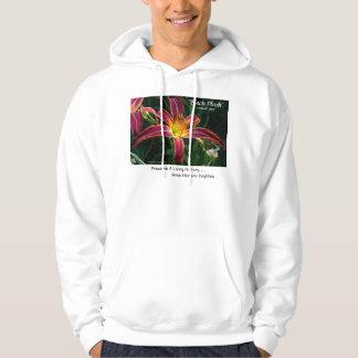 New Day Gardens Shirt- daylily 'Black Plush' Hoodie