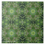 New Day Gardens Tile- Kaleidoscopic Leaves