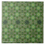 New Day Gardens Tile- Kaleidoscopic Leaves 2