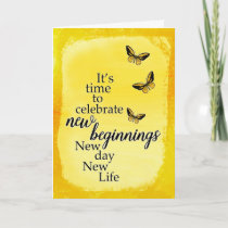 New Day New Life - 12 Steps, Addiction Recovery Card