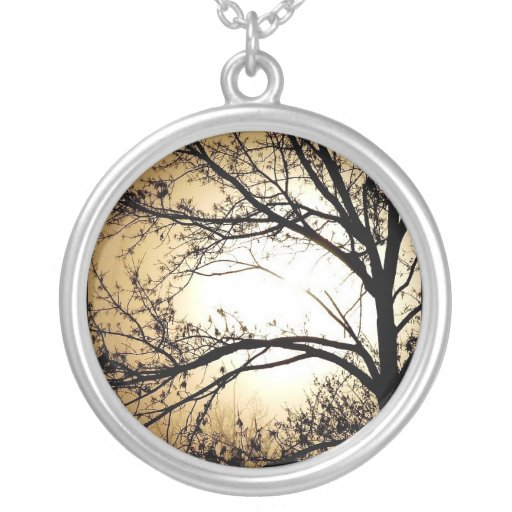New Day ~ Trees Please Sterling Silver Necklace Jewelry