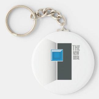 New Deal Basic Round Button Keychain