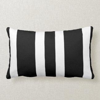 New Deep Dark Brown & White Stripe Lumbar Pillow