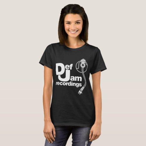 new DEF JAM RECORDINGS Logo Classic Rap Hip Hop Me T-Shirt