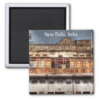 New Delhi 2 Inch Square Magnet