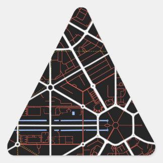 New Delhi Future Map Triangle Stickers