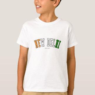 New Delhi in India national flag colors T-Shirt