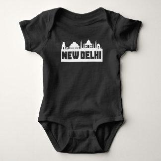 New Delhi India Skyline Baby Bodysuit