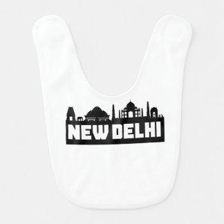 New Delhi India Skyline Bib