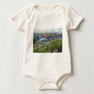 New Delhi India Traffic views from Metro Railways Baby Bodysuit