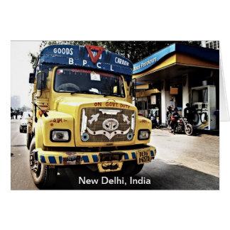 New Delhi Truck Greeting Card