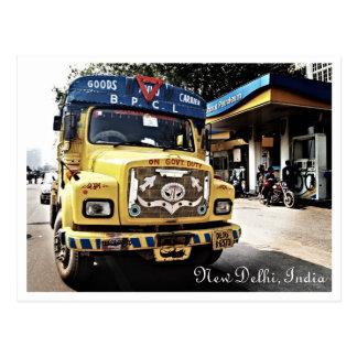 New Delhi Truck Post Card