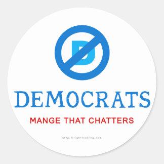 New Democrat Logo Classic Round Sticker