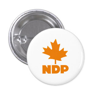 New Democratic Party of Canada Pinback Button