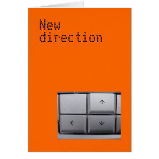 New direction card