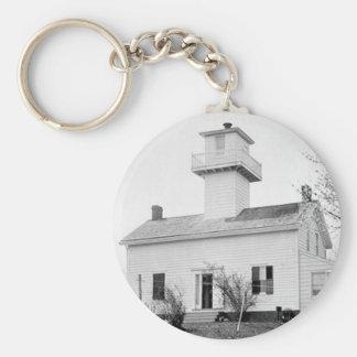 New Dorp Lighthouse Basic Round Button Keychain