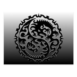NEW Dragon Black Postcard