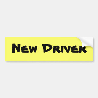 New Driver Bumper Sticker