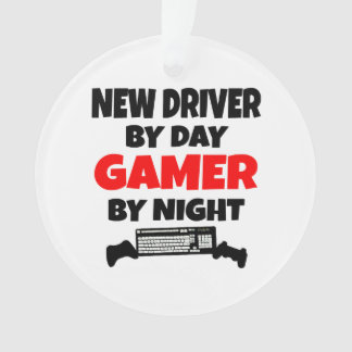 New Driver by Day Gamer by Night Ornament