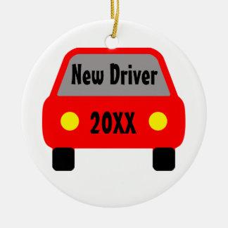 New Driver Ceramic Ornament