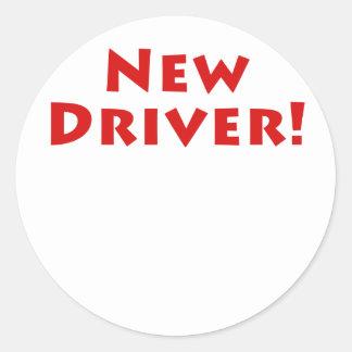 New Driver Classic Round Sticker