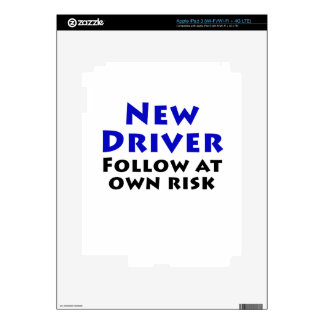 New Driver Follow at Own Risk Decal For iPad 3