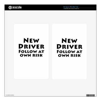 New Driver Follow at Own Risk Kindle Fire Skins