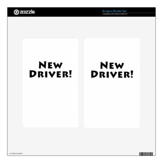 New Driver Kindle Fire Decals
