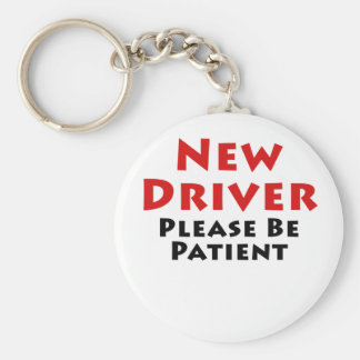 New Driver Please Be Patient Basic Round Button Keychain