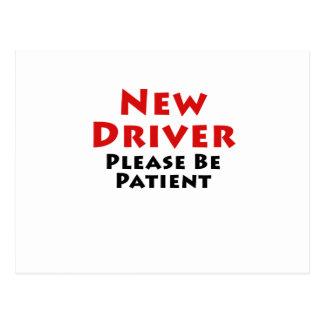 New Driver Please Be Patient Postcard