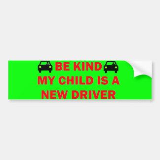 New Driver Safety Bumper Sticker