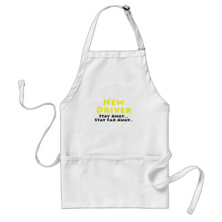 New Driver Stay Away Stay Far Away Adult Apron