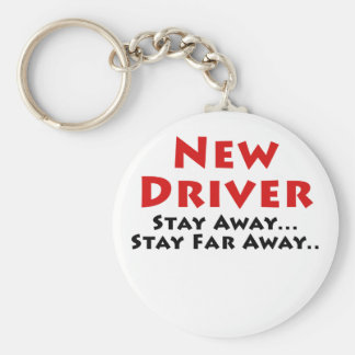 New Driver Stay Away Stay Far Away Basic Round Button Keychain