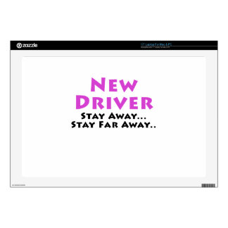 New Driver Stay Away Stay Far Away Laptop Decal