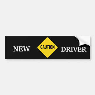 NEW DRIVER WARNING BUMPER STICKER