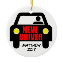 New Drivers License Keepsake Ceramic Ornament